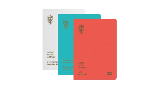 The covers of the new Norwegian Passport